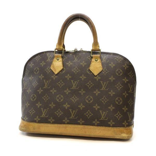 57dcb3140d08 Louis Vuitton Alma Monogram Handle bags Brown Canvas M51130