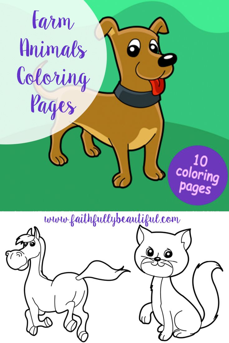 FREE Farm animals printables & coloring pages for kids from ...