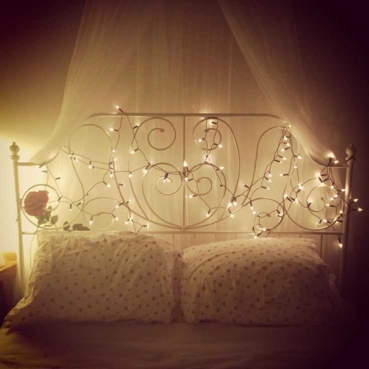 solar fairy lights bed - Google Search   Decor and pics I want ...