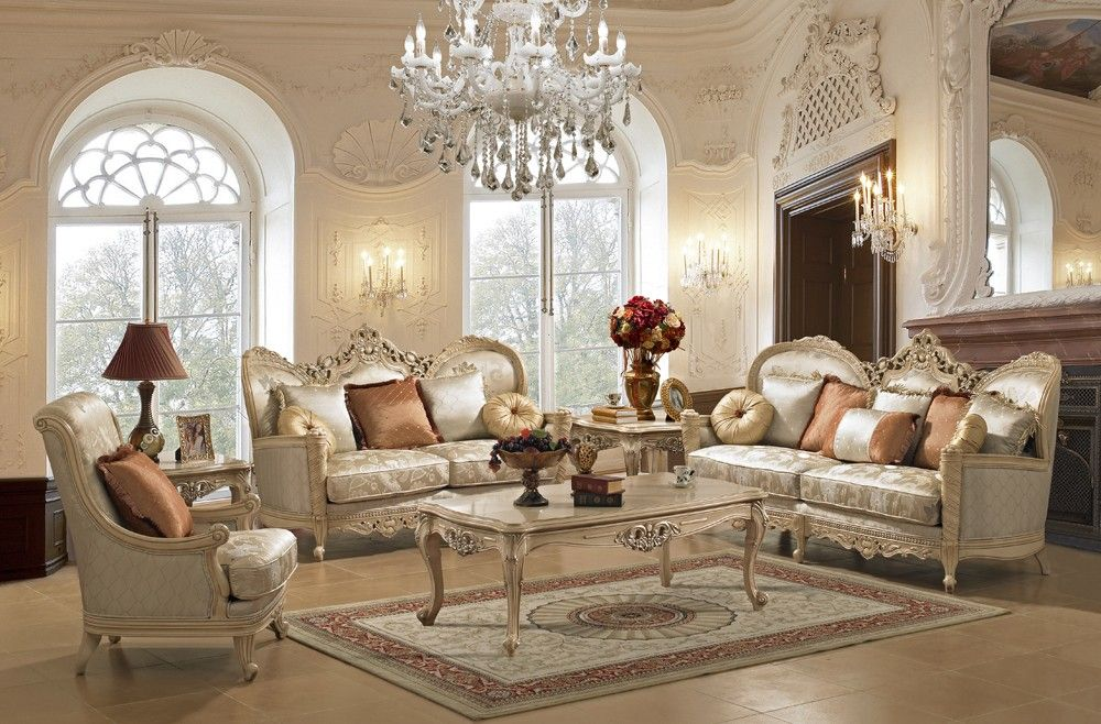 Medichi Traditional Style Living Room - Living Room ...