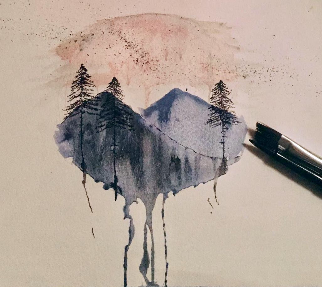Watercolor And Pen Great Smoky Mountains National Park