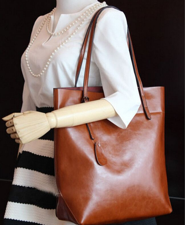 Bolsa De Ombro Em Couro : Moda ocasional preto sacos de ombro grande couro do