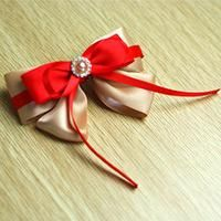 How to Make a Nifty Red Bow Hair Clip with Ribbon for Girls