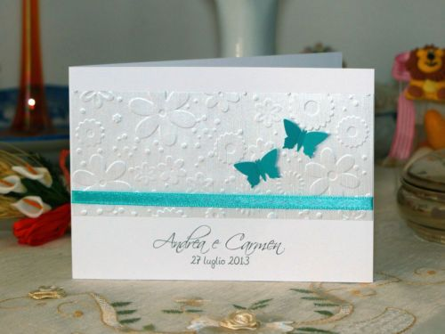 Matrimonio In Verde Tiffany : Partecipazioni nozze inviti matrimonio fatta a mano verde