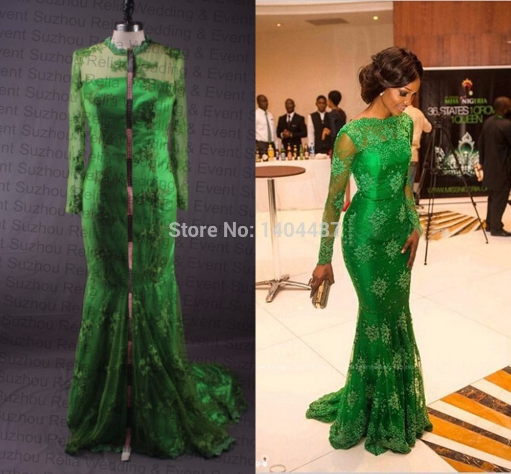 Aliexpress.com : Buy Real Images Long Tight Emerald Green Mermaid ...