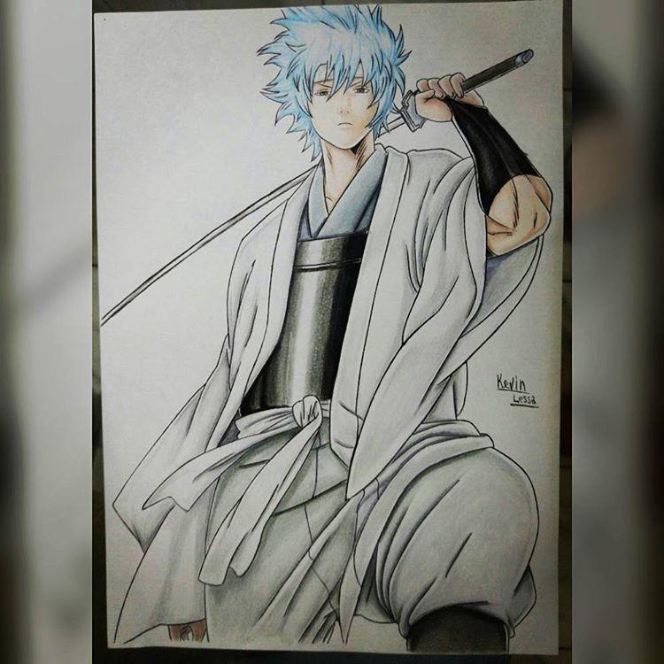 Demorou, mas terminei #anime #drawing #gintama #art #instaart #desenho #mangá