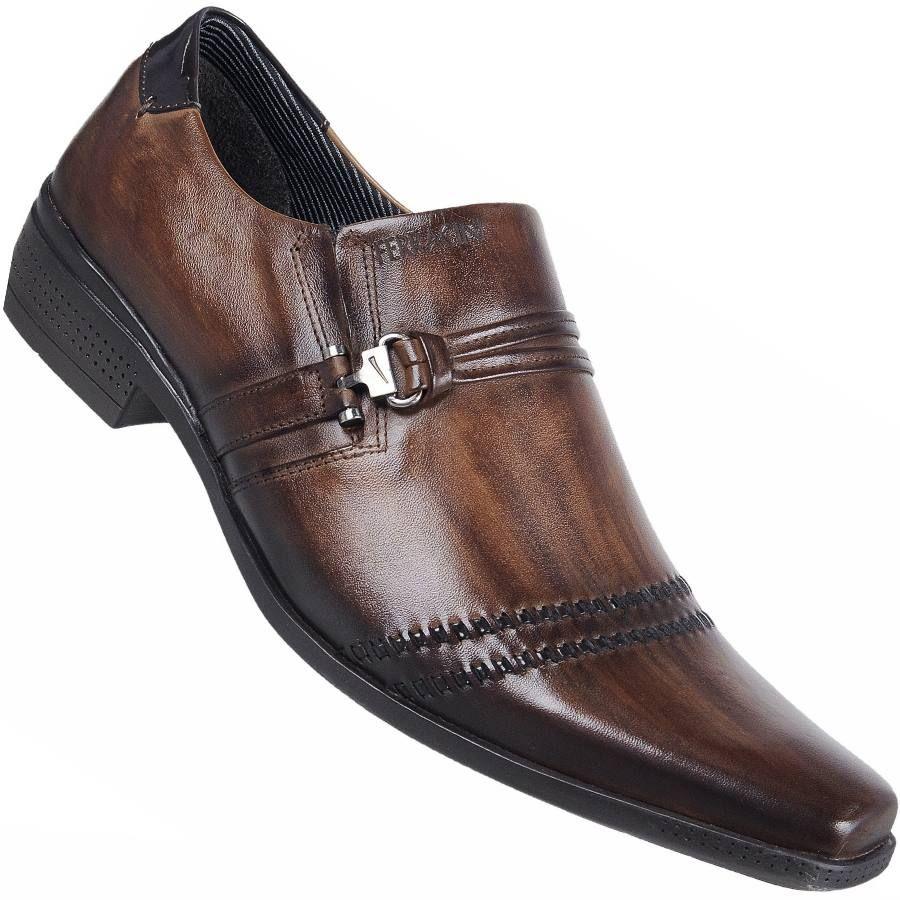 bc4a3f130 Sapato Ferracini Frankfurt Capri Social S/ Cadarço Masculino Marrom ...