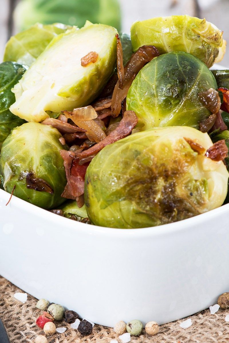 Balsamic Roasted Brussels Sprouts with Pancetta Recipe | Eating is ...