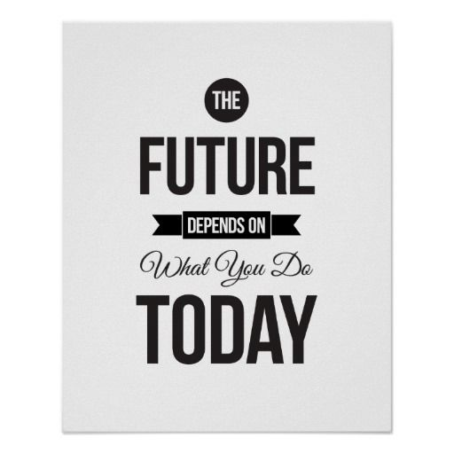 The future white inspirational quote poster