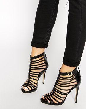 fe5026a7657c2 Agrandir New Look - Teaser - Sandales à talons effet cage style spartiates  - Noir