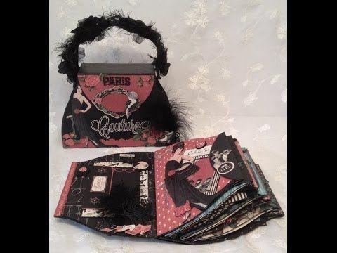 Graphic 45 Couture purse mini album - YouTube