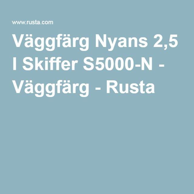 Väggfärg Nyans 2,5 l Skiffer S5000-N - Väggfärg - Rusta