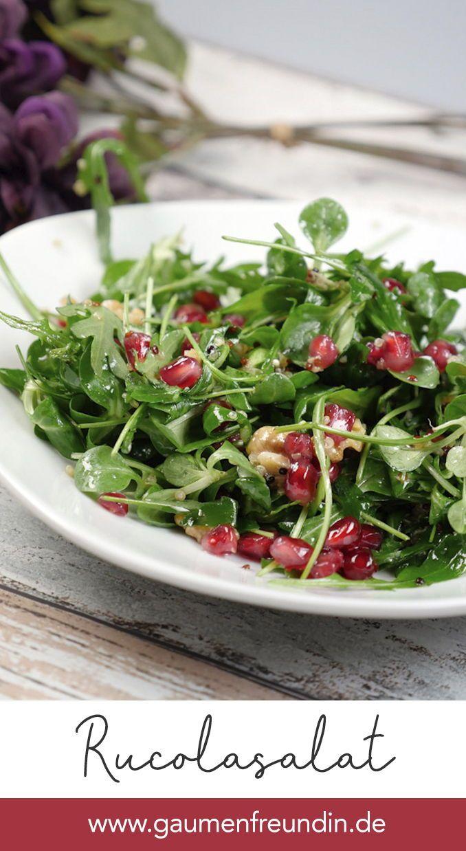 Photo of Quinoa salad with pomegranate, arugula, lamb's lettuce and walnuts