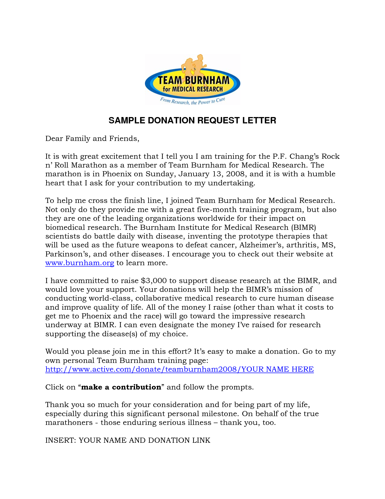 Sample Donation Request Letter Template Fundraising – Sample Donation Request Letter