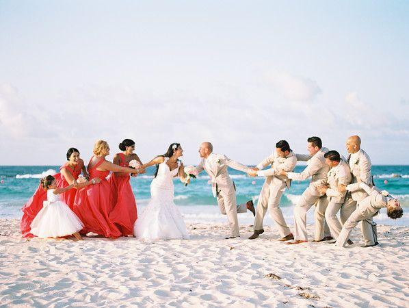 Bridal Party at Hard Rock Punta Cana Hotel - Dominican Republic Destination Wedding