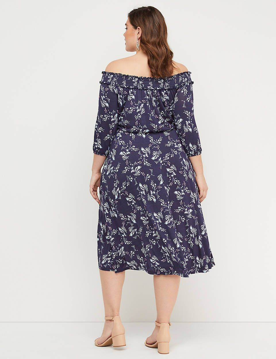 4fca6948873c Lane Bryant Floral Off-the-Shoulder High-Low Midi Dress in 2019 ...