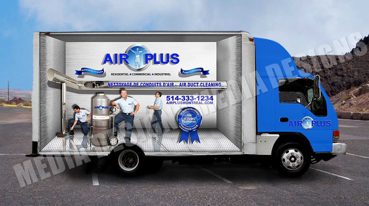 3d truck wrap design by david bavati truck side advertising etc