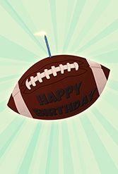 Free Printable Birthday Card Football Birthday Greetings Island Happy Birthday Football Birthday Card Printable Kids Birthday Cards