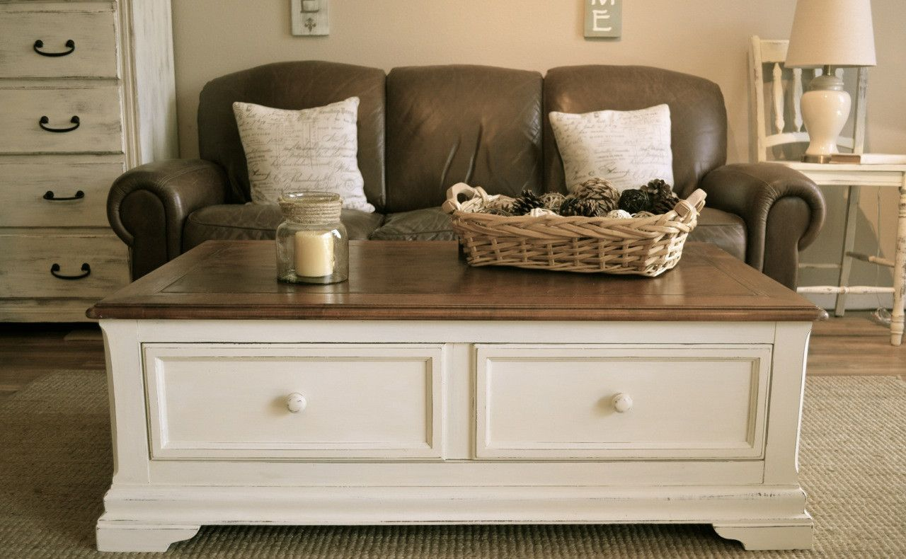 small white rectangle coffee table