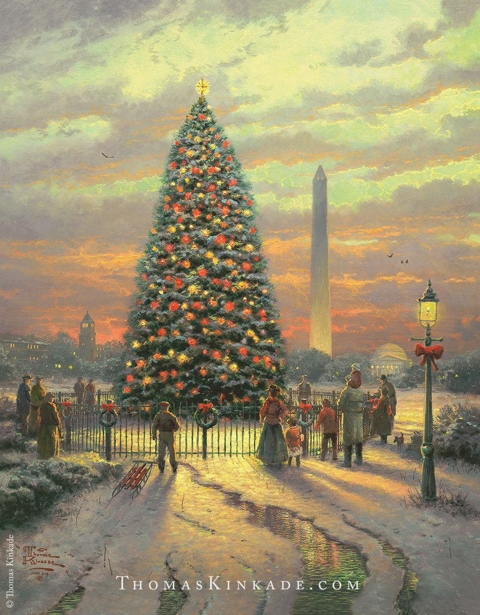 Thomas Kinkade Christmas.Symbols Of Freedom Thomas Kinkade Christmas Gifts And Home
