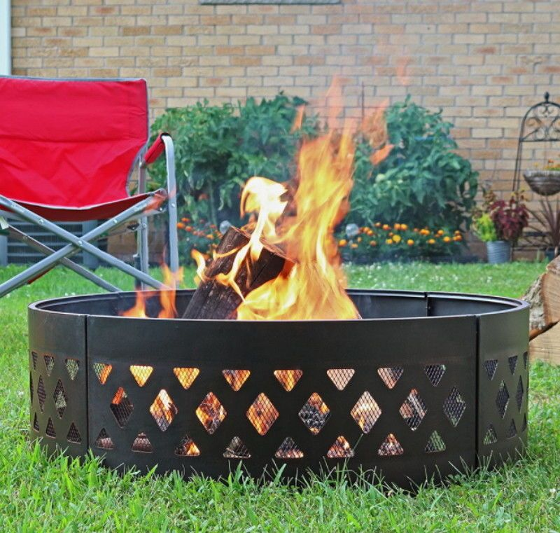 36 Inch Heavy Duty Crossweave Campfire Ring Portable Outdoor Firepit Campfirering Fire Pit Backyard Fire Pit Seating Fire Pit Decor