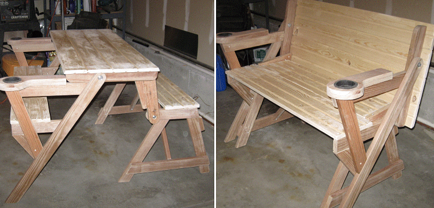 - How To Make A Compact Folding Picnic Table Folding Picnic Table