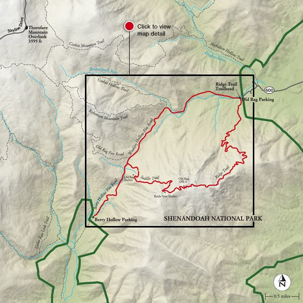Best Shenandoah National Park Hike Trail Map National Geographic