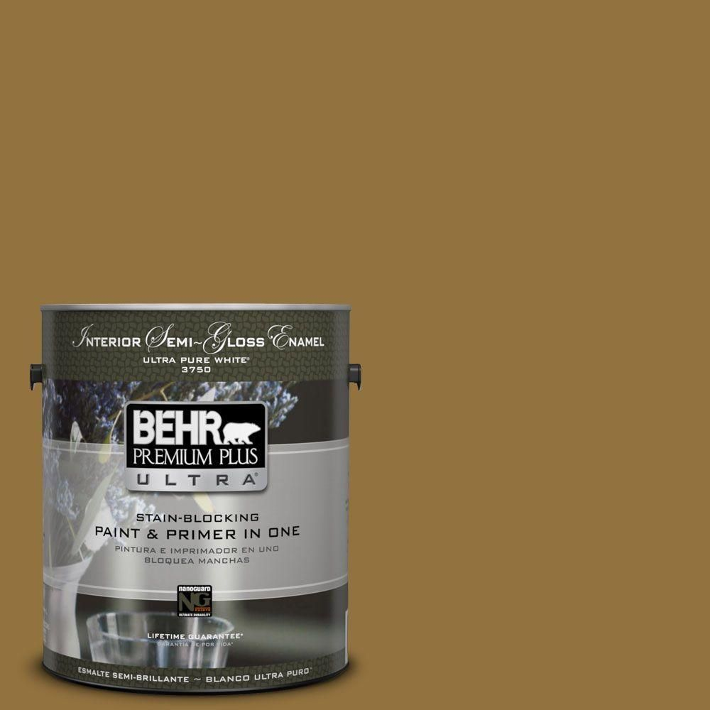 Behr Ultra 8 Oz 350d 7 Cattail Brown Matte Interior Exterior Paint And Primer In One Sample 350d 7u Interior Paint Exterior Paint Behr
