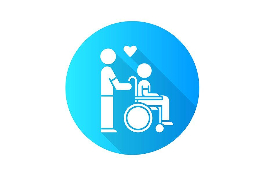 Disabled People Help Glyph Icon Glyph Icon Glyphs People Logo