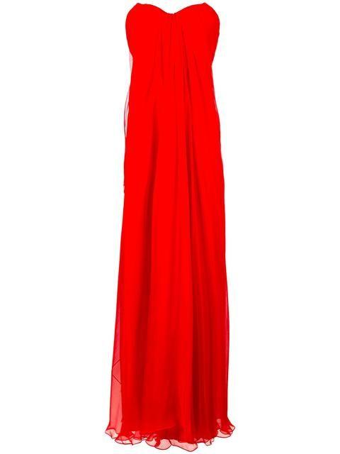 Alexander McQueen Draped Bustier Evening Dress | Alexander McQueen ...
