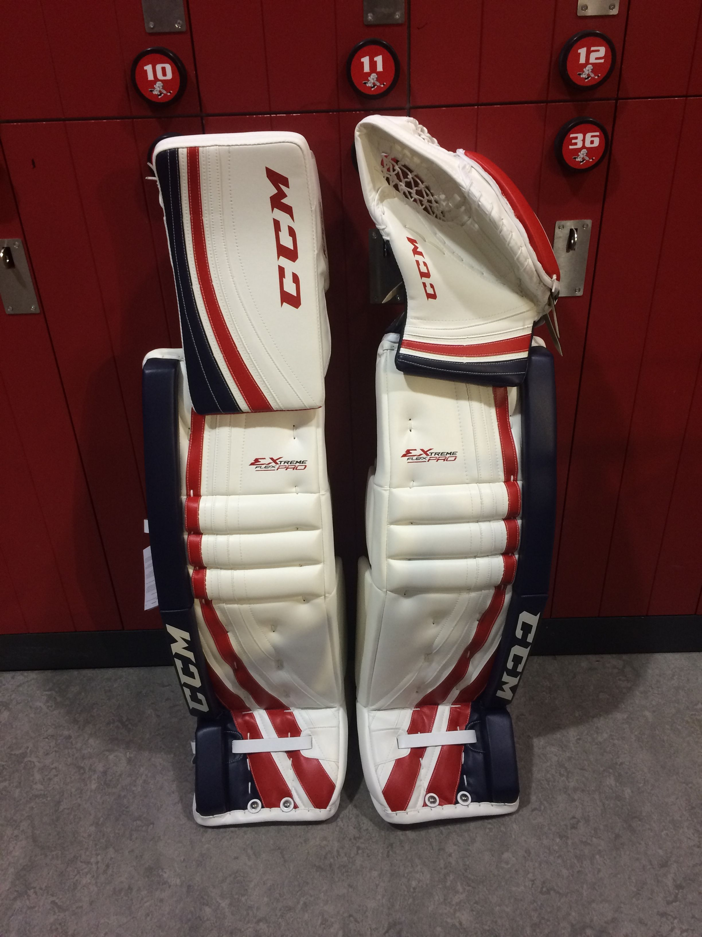 c1f58a31ab9 CCM Extreme Flex Pro custom goalie pads and gloves made for a customer. Do  you like the color choices