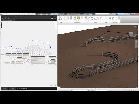 Revit Tips - Easy Farm Fence by Dynamo (with family download
