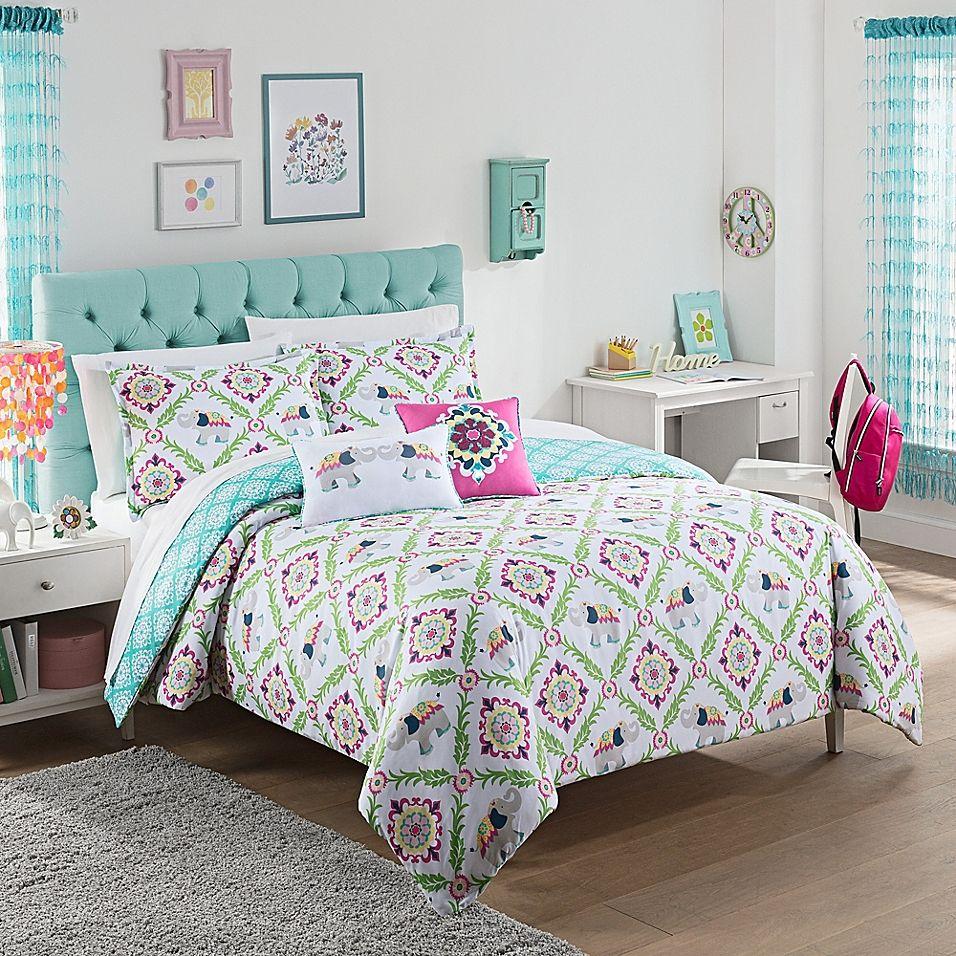 Waverly Kids Bollywood Reversible Twin Comforter Set Green
