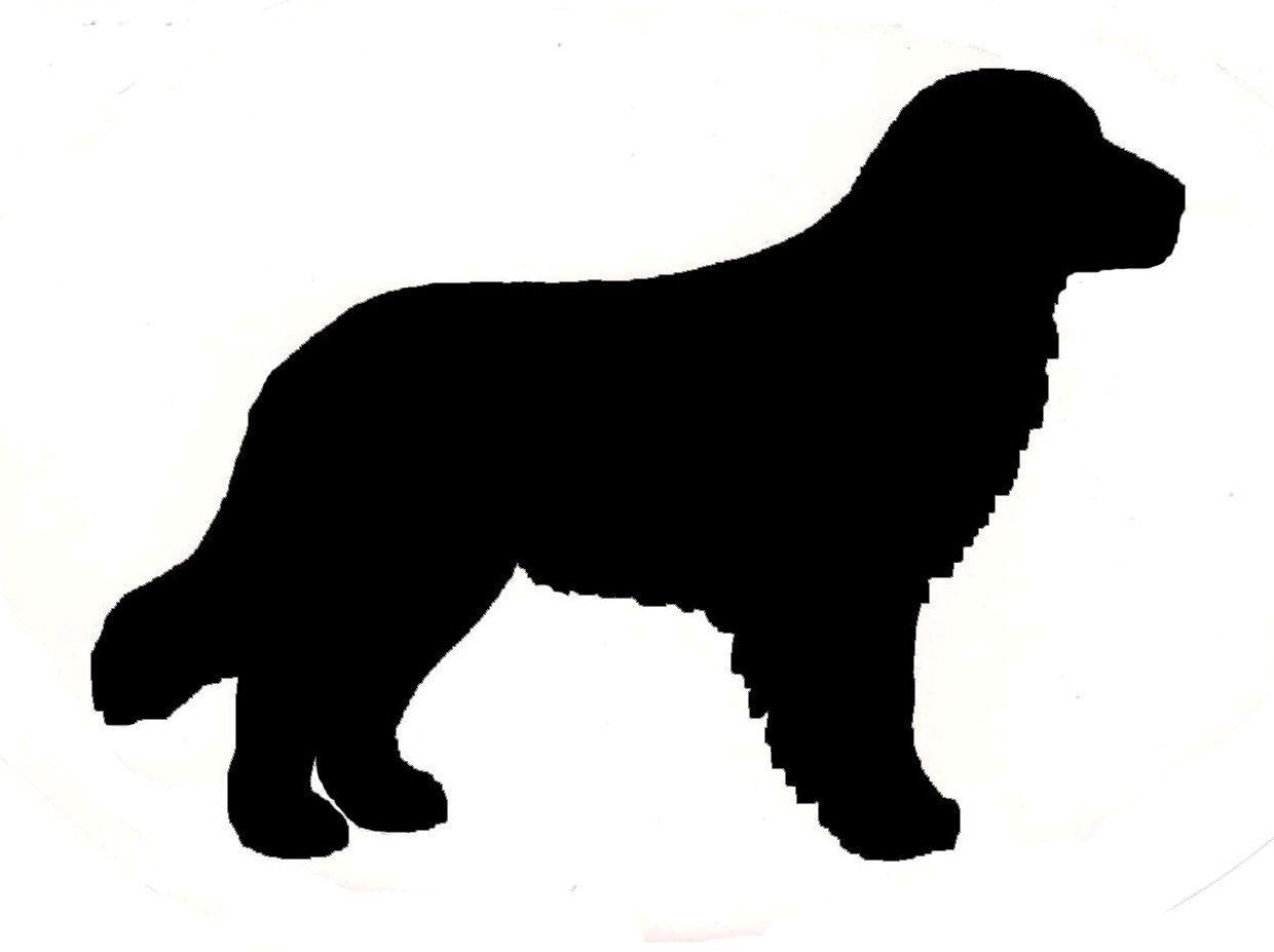 2 Golden Retriever Dog Profile Silhouette Window Decal Black On