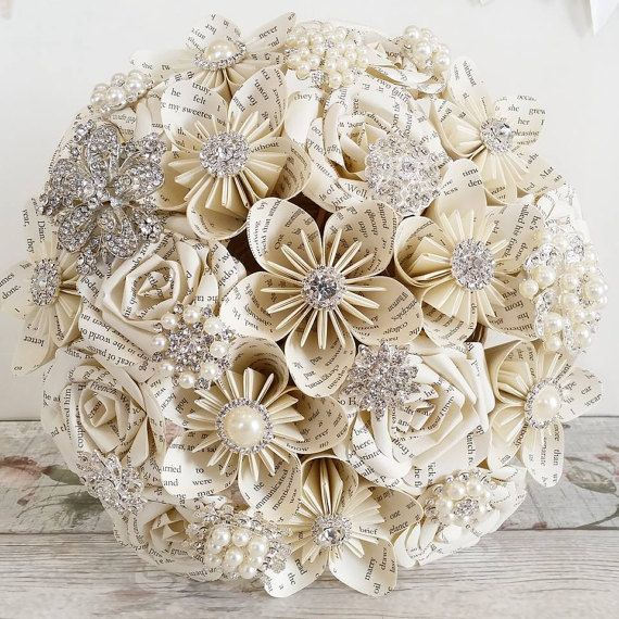 Origami Wedding Flowers: Paper Wedding Bouquet Origami Rose Bridal Flowers