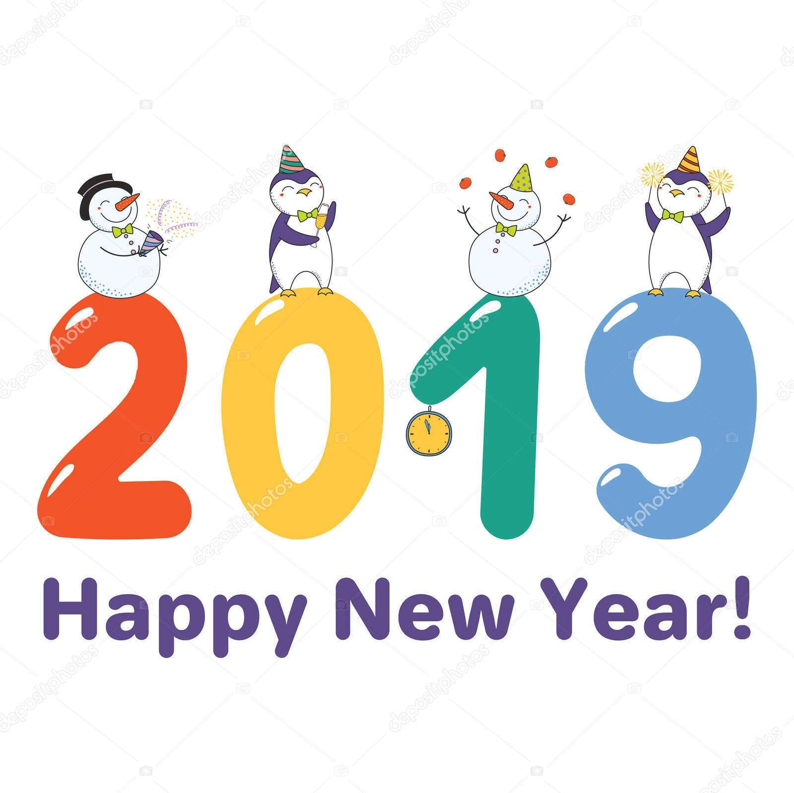 những hình ảnh dễ thương nhất về năm mới kỷ hợi 2019 hoạt hình cực đẹp