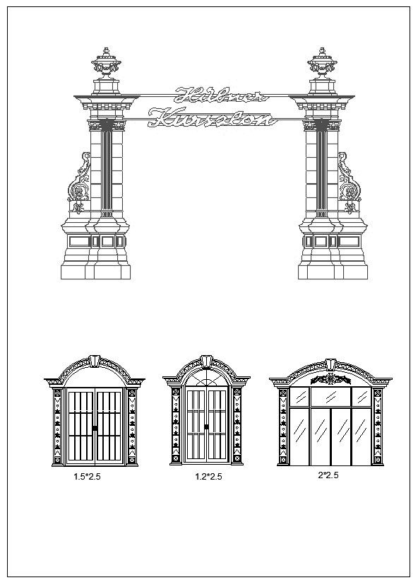 Pin by CAD Blocks&Drawings on Neoclassical Design,Column