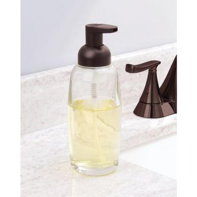 Glass Refillable Foaming Soap Dispenser Pump Bronze Foaming