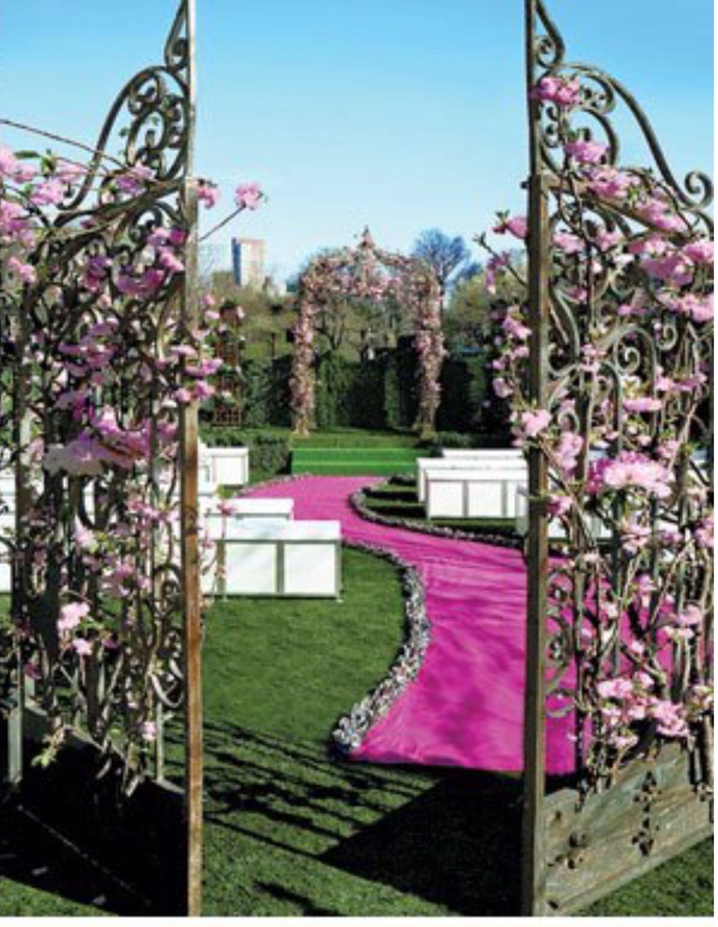 Wedding decorations gate  partybravo pink How about this Pink Carpet  Event Design