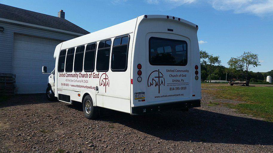 abf977c25634ca Signs Wraps Banners   Vinyl Church Shuttle Van Graphics Lettering in Deep  Creek Lake Maryland .
