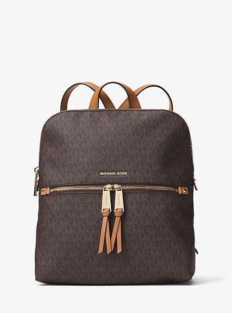 1fa04ee1b4 Michael Kors Rhea Medium Slim Logo Backpack