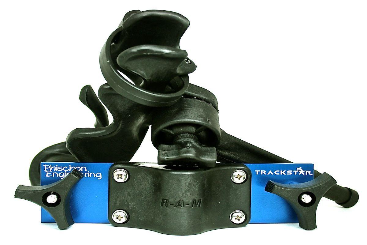 TrackStar - Tracker Versatrack/Lund Sport Trak Gunnel Bracket w/ RAM-ROD 2000 Rod Holder