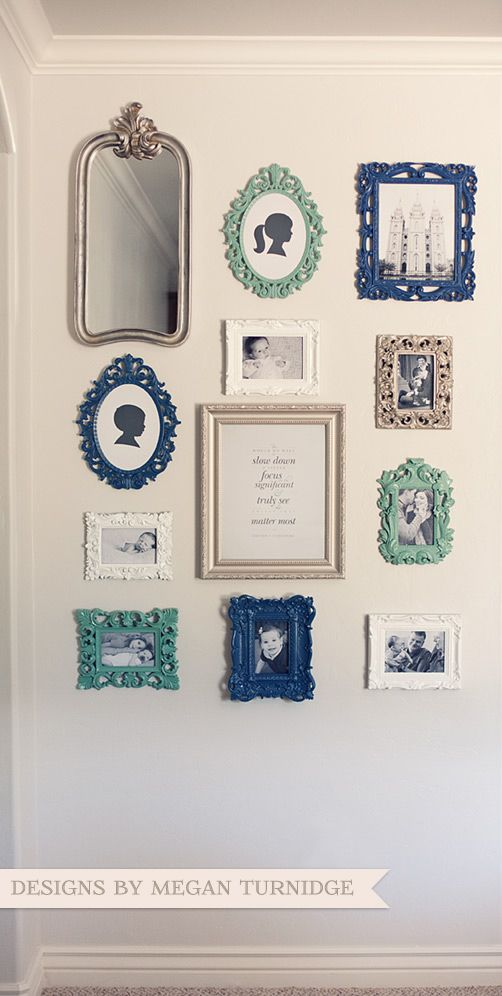 Photo Wall Collage Using Vintage Style Photo Frames For The Home