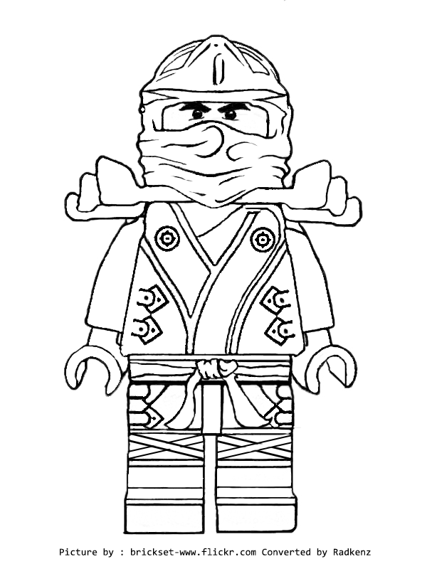 Ninjago Coloring Pages | LEGO Ninjago Golden Ninja Coloring Pages