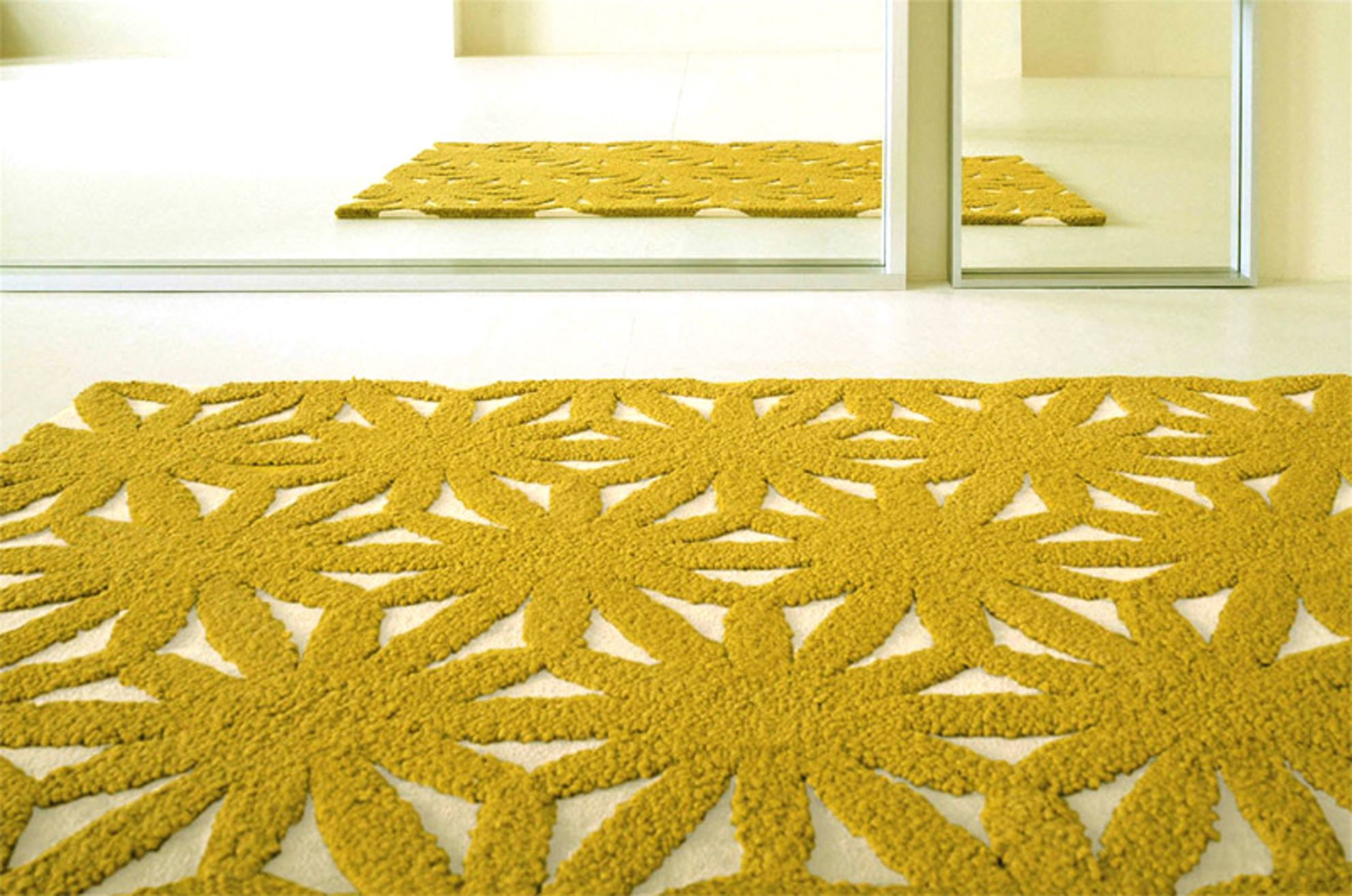 Wovenground flower rug in yellow by gan rugs httpwovenground gandia blasco modern flower pistachio green rug from the gandia blasco rugs i collection at modern area rugs mightylinksfo