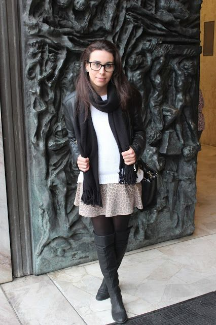 Nanda Pezzi: Jaqueta de couro + Bota Over the knne
