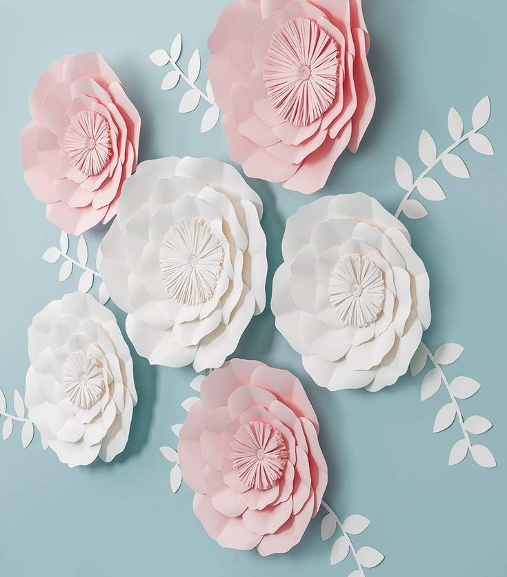 Bridal shower decorations  giant paper flowers  Paper Flower Backdrop Wedding Bridal shower decorations  giant paper flowers  Bridal shower decorations  giant paper flowe...