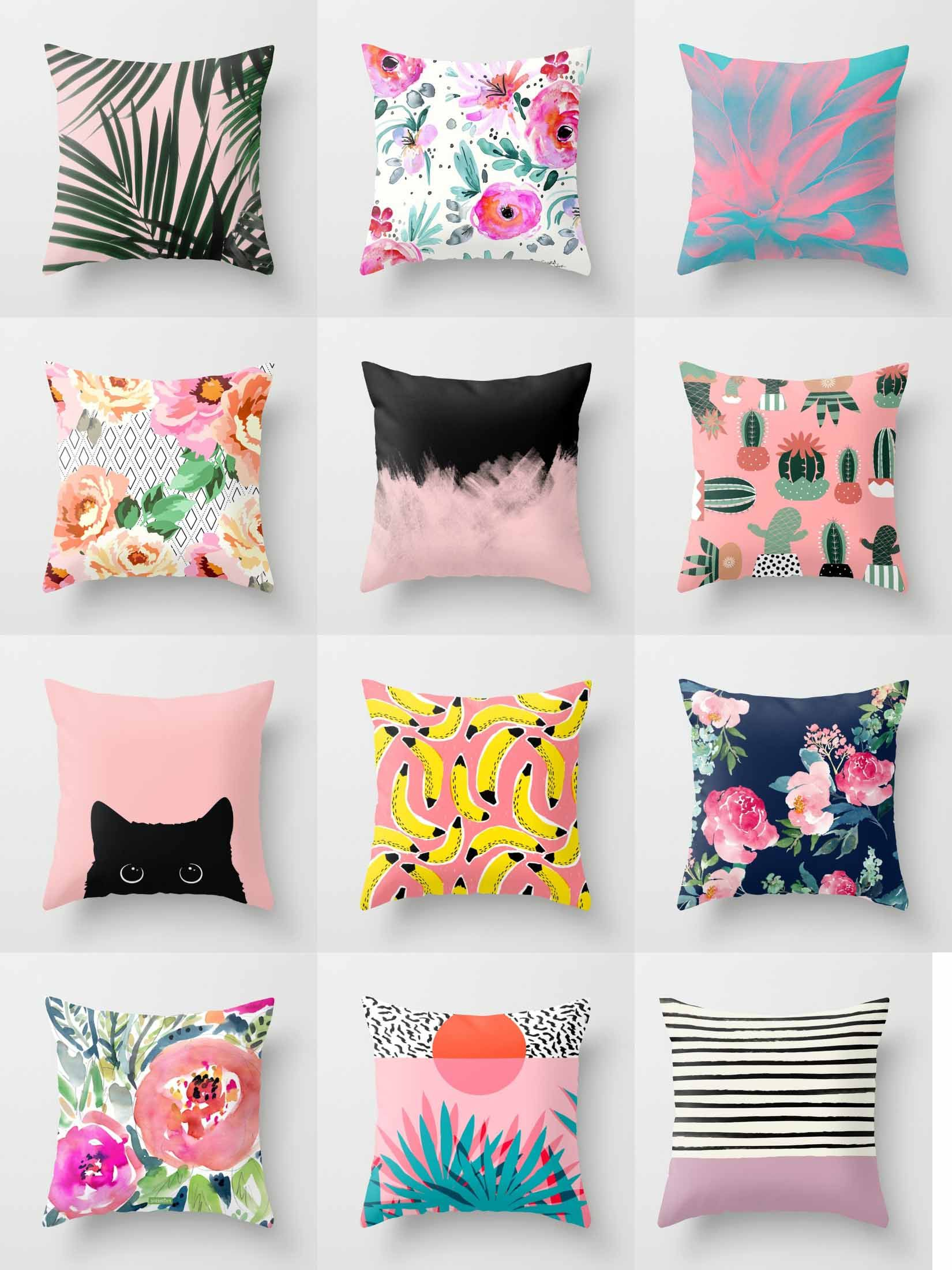 Society6 Pink Throw Pillows Society6 Is Home To Hundreds Of