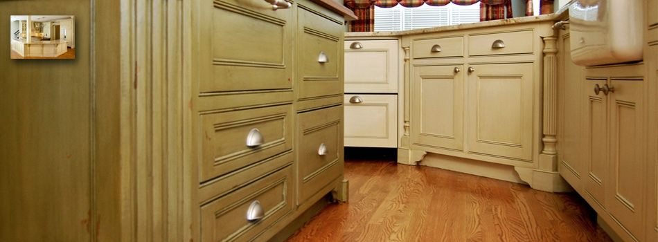 Decorative painting faux finishes kitchen cabinet for Annie sloan painted kitchen cabinets