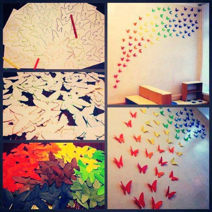Decorating Paper Crafts For Home Decoration Interior Room: Decorate Your Kids Room With These Beautiful Butterflies
